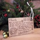 Babys 1st First Christmas Letter from Santa Father Christmas Wood Keepsake Gift